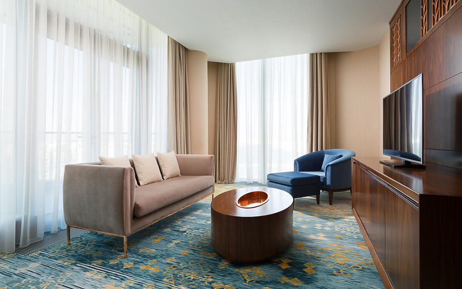 Upholstered Sofas - The Stunning Hilton Astana Hotel Design Upholstered Furniture Upholstered Furniture: The Stunning Hilton Astana Hotel Design Upholstered Furniture The Stunning Hilton Astana Hotel Design 5