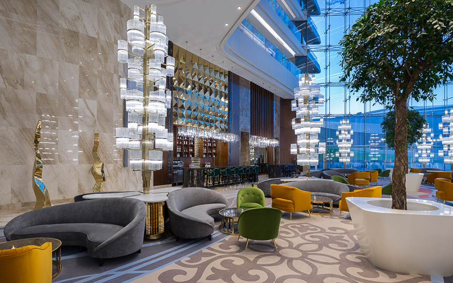 Upholstered Sofas - The Stunning Hilton Astana Hotel Design Upholstered Furniture Upholstered Furniture: The Stunning Hilton Astana Hotel Design Upholstered Furniture The Stunning Hilton Astana Hotel Design 9