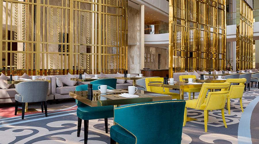 Upholstered furniture the stunning hilton astana hotel design - Hilton furniture living room sets ...